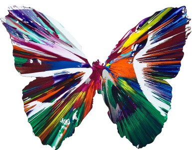 View 1. Thumbnail of Lot 147. Damien Hirst 達米恩・赫斯特 | Untitled (Butterfly Spin Painting) 無題(蝴蝶旋轉畫).