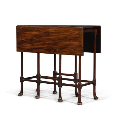 View 1. Thumbnail of Lot 252. A George III mahogany spider-leg table by Thomas Chippendale, 1768.