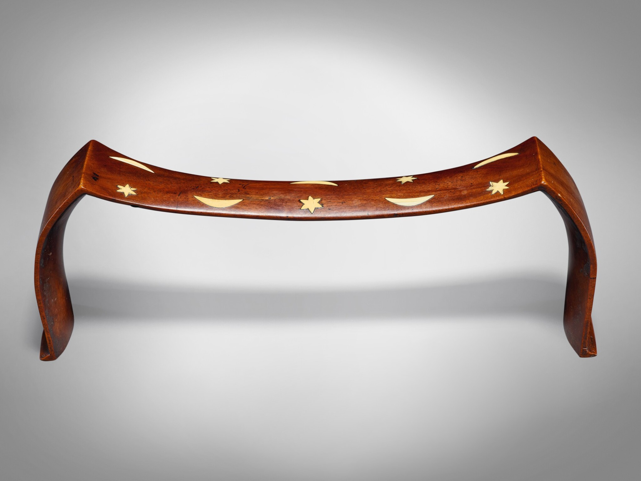 View full screen - View 1 of Lot 14. Inlaid Headrest, Tonga.