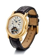 DANIEL ROTH   REGULATEUR TOURBILLON, REFERENCE 197.X.40, A PINK GOLD DOUBLE DIALED TOURBILLON WRISTWATCH WITH DATE AND 8 DAY POWER RESERVE INDICATION, CIRCA 2004