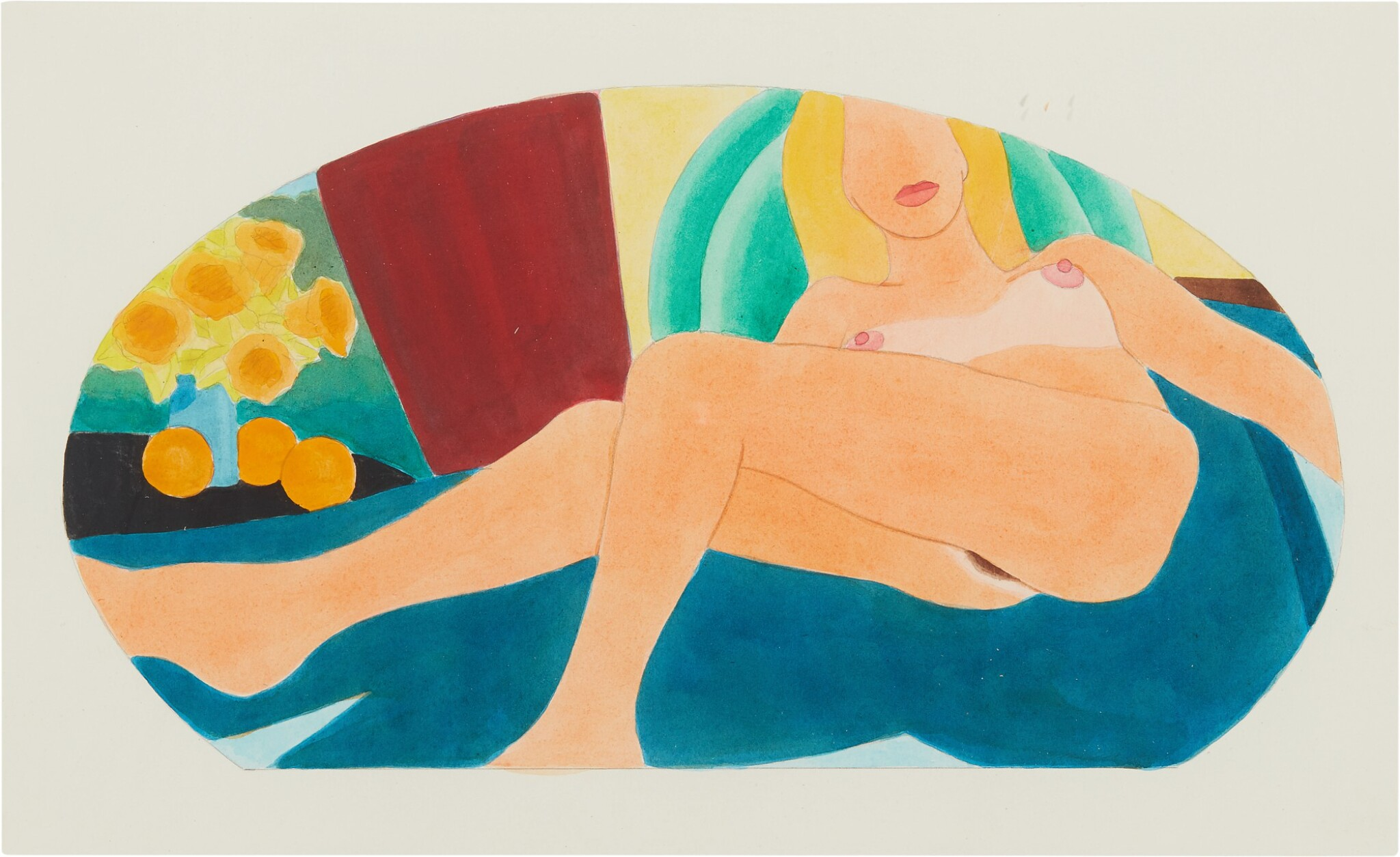 View 1 of Lot 550. TOM WESSELMANN | FROM GREAT AMERICAN NUDE #100 .