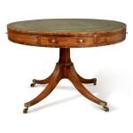 A GEORGE III MAHOGANY DRUM TABLE, CIRCA 1800
