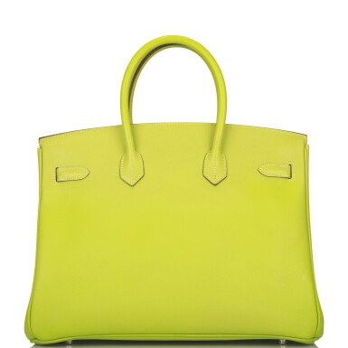 "Hermès Bi-color Kiwi and Lichen ""Candy"" Birkin 35cm of Epsom Leather with Palladium Hardware"