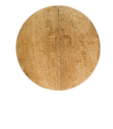 View 2. Thumbnail of Lot 9. A George III oak cricket table, late 18th century.