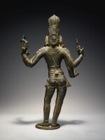 A COPPER ALLOY FIGURE OF SHIVA VINADHARA SOUTH INDIA, TAMIL NADU, CHOLA, CIRCA 12TH CENTURY