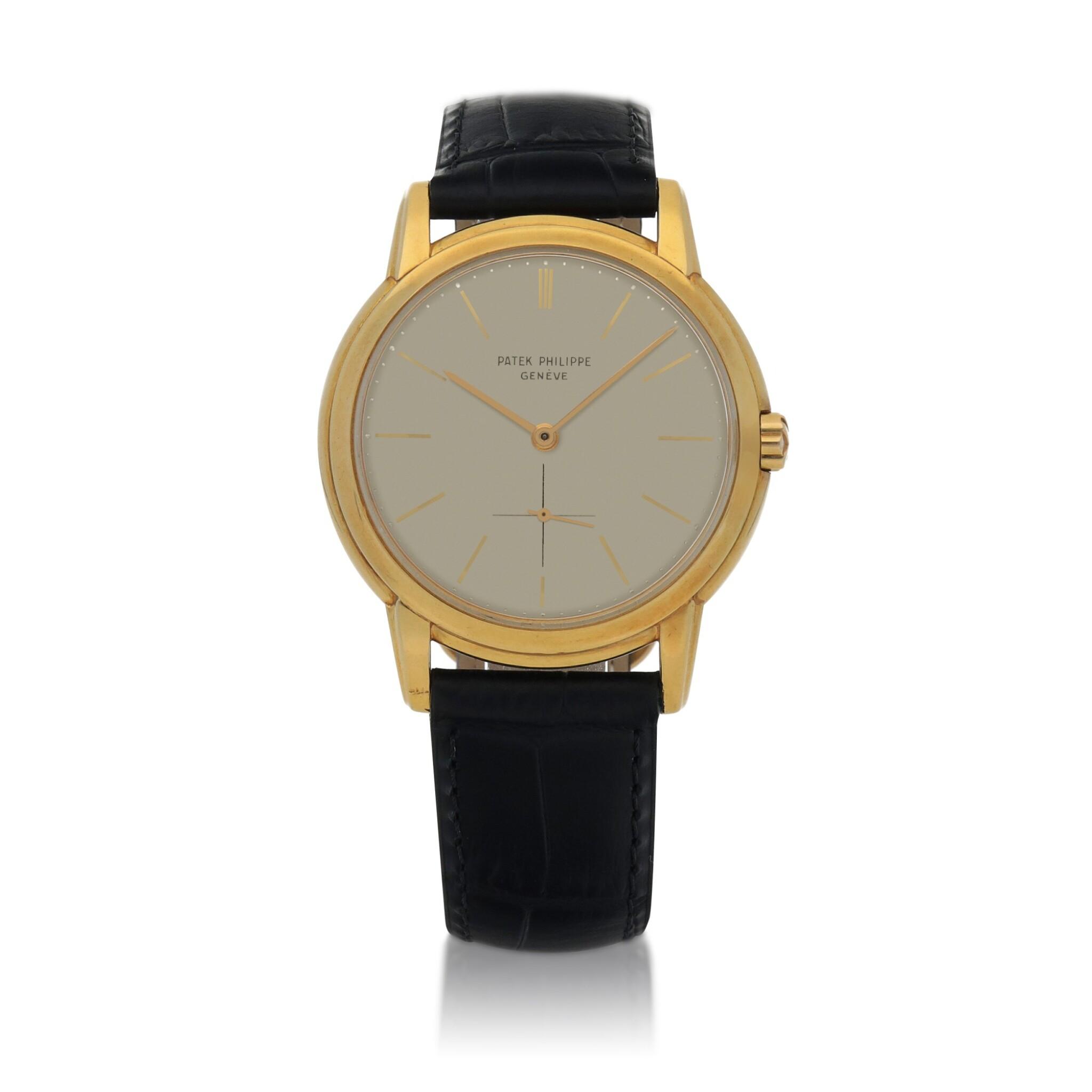 View full screen - View 1 of Lot 81. Ref. 2551 Yellow gold wristwatch Made in 1958 | 百達翡麗 2551型號黃金腕錶,1958年製.