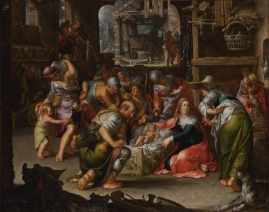 View 1. Thumbnail of Lot 144. Adoration of the Shepherds         .