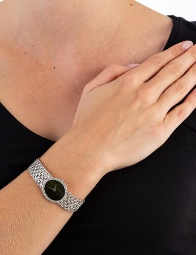 View 4. Thumbnail of Lot 125. Piaget | Montre bracelet de dame or et diamants | Lady's gold and diamond bracelet watch.