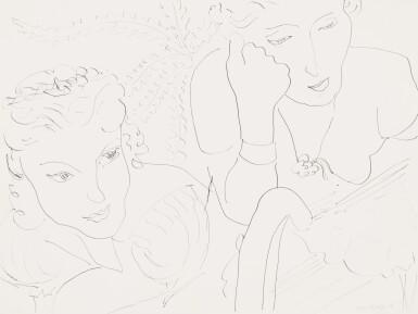 View 1. Thumbnail of Lot 102. Deux femmes   《兩女子》.