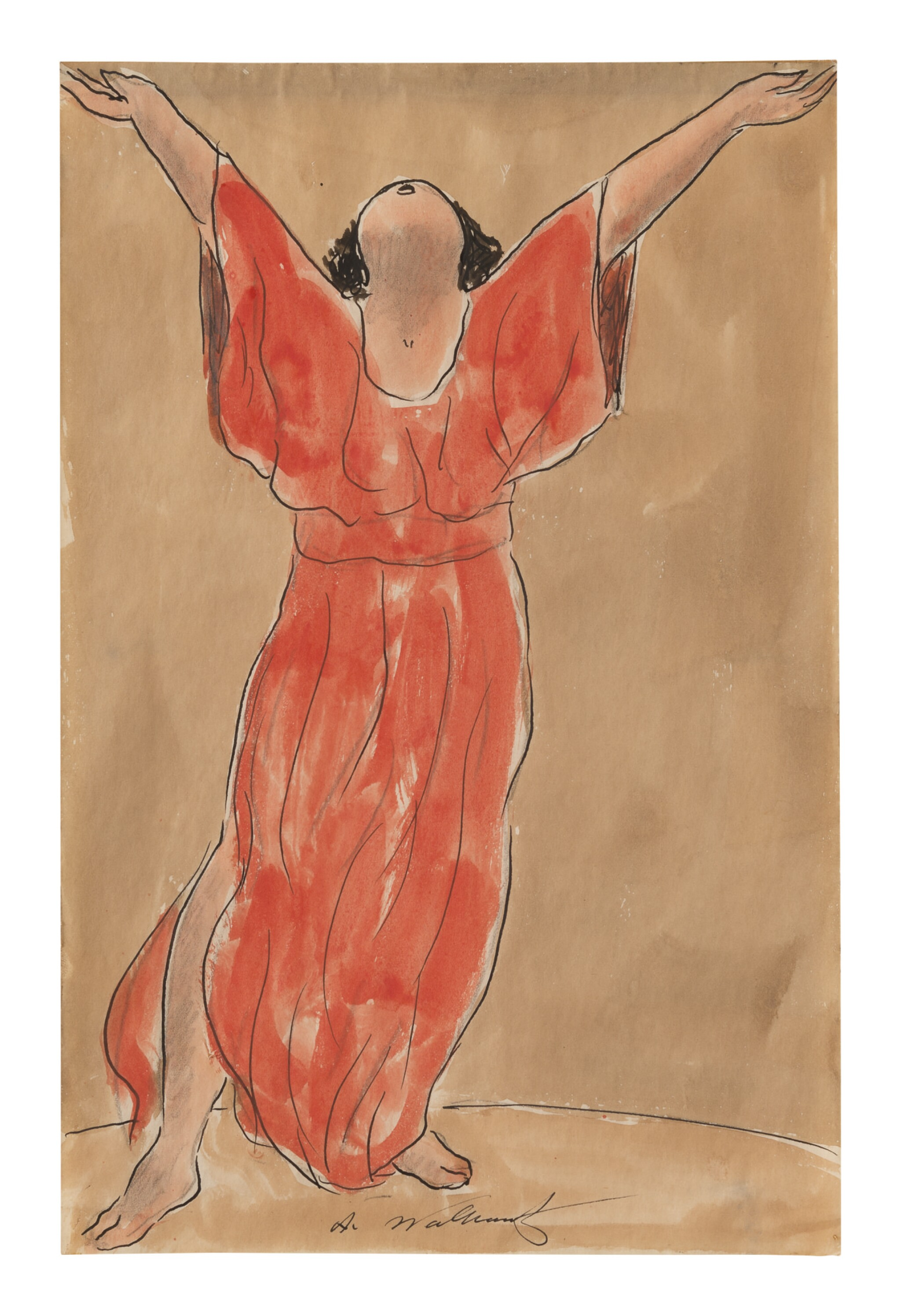 View full screen - View 1 of Lot 24. ABRAHAM WALKOWITZ   ISADORA DUNCAN DANCING I.