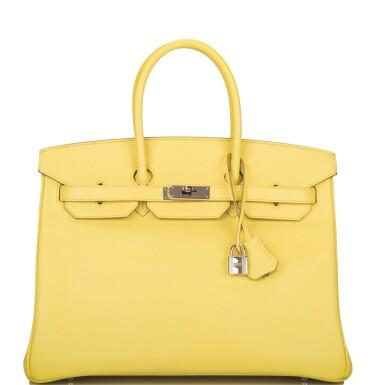 Hermès Soufre Birkin 35cm of Epsom Leather with Palladium Hardware