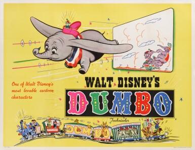 View 1. Thumbnail of Lot 20. DUMBO (1941) POSTER, BRITISH.