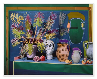 View 2. Thumbnail of Lot 52. DANIEL GORDON | 'PHILODENDRON AND BUST WITH VESSELS AND FRUITS'.