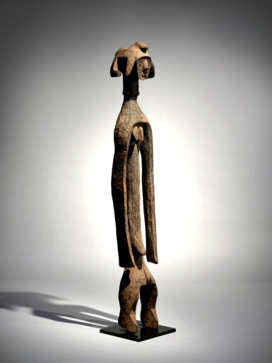 View 1. Thumbnail of Lot 68. Mumuye Statue, Nigeria.