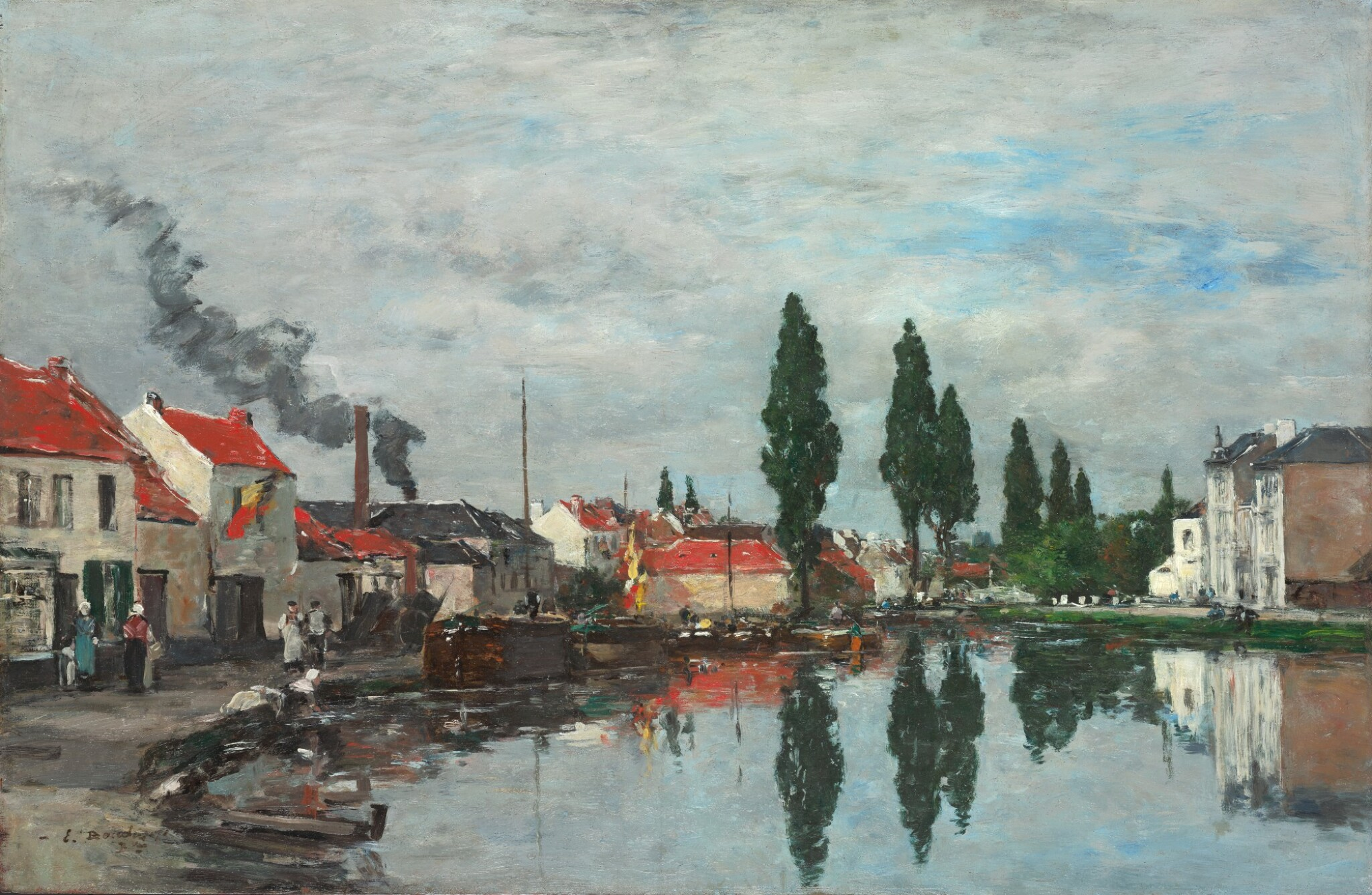 View full screen - View 1 of Lot 5. EUGÈNE LOUIS BOUDIN | BRUXELLES, LE CANAL DE LOUVAIN   .