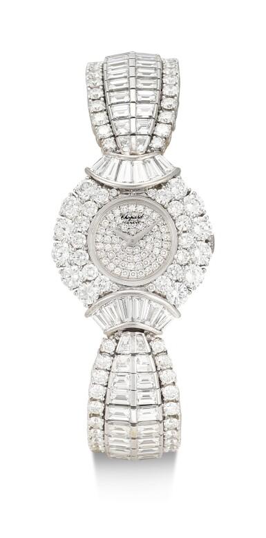 View 1. Thumbnail of Lot 1020. RARE AND POSSIBLY UNIQUE MANUALLY-WOUND DIAMOND WRISTWATCH, CHOPARD 罕有並可能獨一無二手動上鏈鑽石腕錶, 蕭邦 (Chopard) .