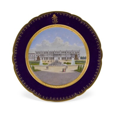 View 24. Thumbnail of Lot 106. An Imperial presentation set of twelve Hutschenreuther porcelain plates, circa 1890.