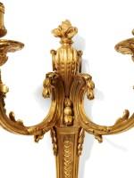 A PAIR OF LOUIS XV GILT-BRONZE SCONCES, CIRCA 1760-1765 | PAIRE D'APPLIQUES AU VASE EN BRONZE DORÉ D'ÉPOQUE LOUIS XV, VERS 1760-1765