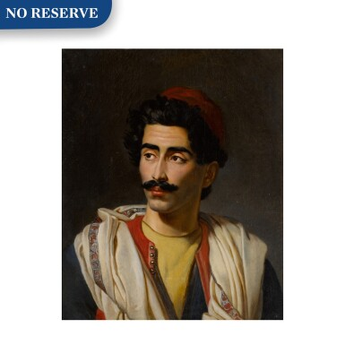 "View 1. Thumbnail of Lot 124. Portrait of a man in a red hat, said to be a ""jeune Grec"" or possibly Hassan el Berberi."