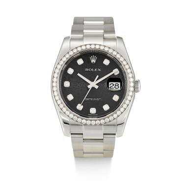 ROLEX  |  DATEJUST, REFERENCE 116244,  A STAINLESS STEEL AND DIAMOND-SET WRISTWATCH WITH DATE AND BRACELET, CIRCA 2002