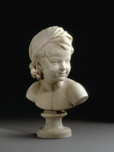 View 12. Thumbnail of Lot 63. Portrait of Constance-Félicité-Victoire-Désirée Vassé, daughter of the artist.