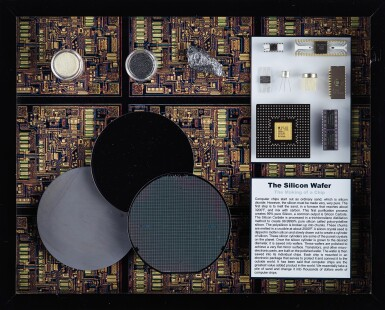 View 1. Thumbnail of Lot 43. A COLLECTION OF FRAMED MICROCHIPS.