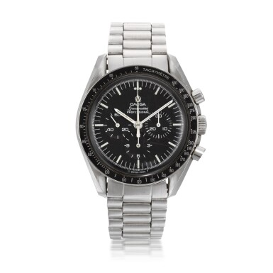 View 1. Thumbnail of Lot 706. REFERENCE ST 145.022, SPEEDMASTER STAINLESS STEEL CHRONOGRAPH WRISTWATCH CIRCA 1983.