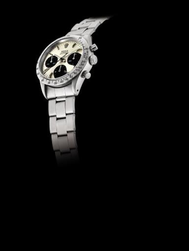 View 4. Thumbnail of Lot 2145. Rolex | Cosmograph Daytona, Reference 6239, A stainless steel chronograph wristwatch with Jumbo logo and bracelet, Circa 1971 | 勞力士 | Cosmograph Daytona 型號6239    精鋼計時鏈帶腕錶,備Jumbo標誌,約1971年製.