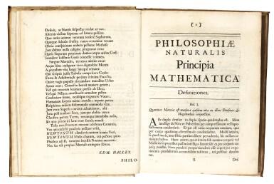 View 3. Thumbnail of Lot 74. Newton, Philosophiae naturalis principia mathematica, London, 1687, contemporary vellum.