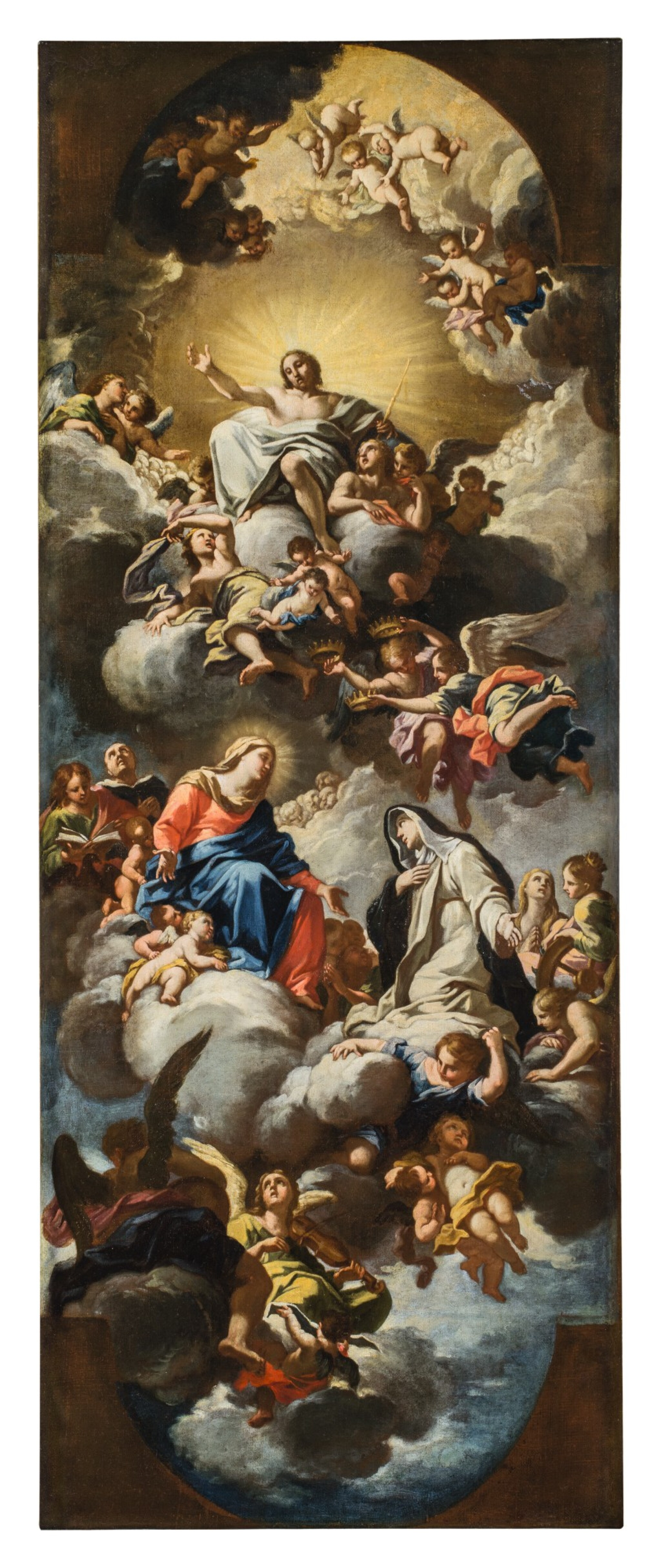View full screen - View 1 of Lot 142. LUIGI GARZI | THE VIRGIN PRESENTING SAINT CATHERINE OF SIENA TO CHRIST IN GLORY.