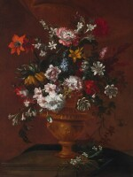 ATTRIBUTED TO PIETER CASTEELS III | Still life of flowers in a large urn