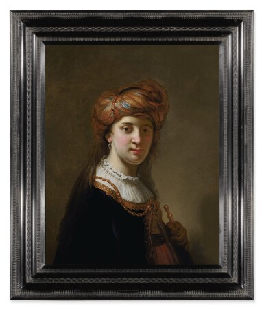 View 3. Thumbnail of Lot 124. GOVERT FLINCK  |  PORTRAIT OF A LADY IN A TURBAN, HALF-LENGTH.