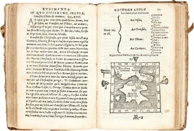 View 3. Thumbnail of Lot 29. Johannes de Sacrobosco | De sphaera, Venice, 1541, contemporary vellum, with other similar works.