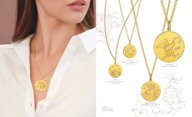 View 2. Thumbnail of Lot 11. Verdura | 18 Karat Gold and Diamond 'Zodiac' Pendant-Necklace.