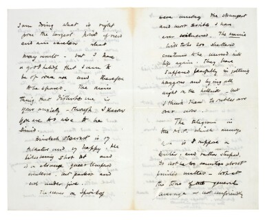 View 5. Thumbnail of Lot 26. CHURCHILL | autograph letter signed, to Pamela Plowden, 1900.