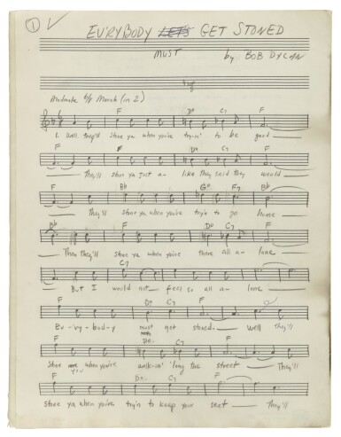 """View 4. Thumbnail of Lot 139. [DYLAN, BOB] 