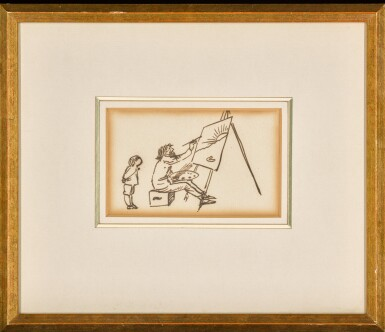 View 2. Thumbnail of Lot 17. A Self Caricature.