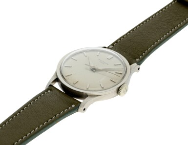 View 6. Thumbnail of Lot 37. PATEK PHILIPPE | REFERENCE 570 CALATRAVA  A WHITE GOLD WRISTWATCH, MADE IN 1966.