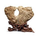 "China, Qing dynasty | Scholar's Rock (""Kissing Birds"")"