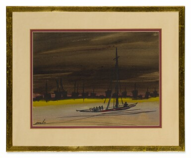 View 3. Thumbnail of Lot 1827. GOPAL GHOSE | UNTITLED (SET OF TWO) .