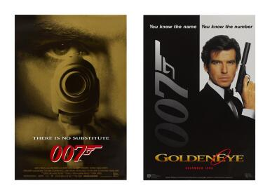 GOLDENEYE (1995) TWO POSTERS, US, ADVANCE, WITH US, DECEMBER ADVANCE