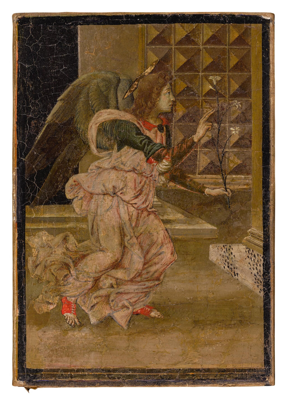 View full screen - View 1 of Lot 502. FLORENTINE SCHOOL, CIRCA 1480/90 | THE ANGEL GABRIEL.