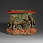 French or Southern Netherlandish, late 15th/ early 16th century | Pedestal with Lions