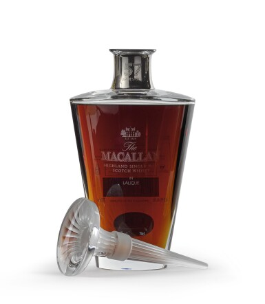 View 1. Thumbnail of Lot 2003. The Macallan In Lalique - Finest Cut Decanter, 57 Years Old.