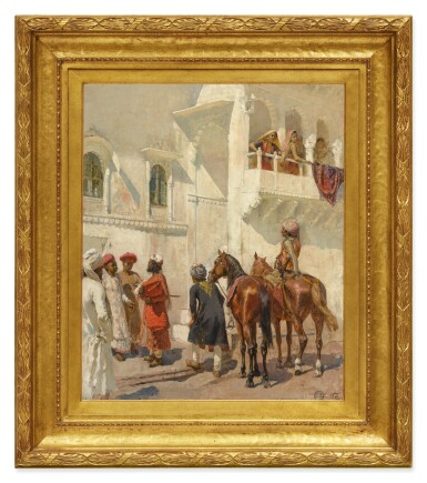 View 2. Thumbnail of Lot 26.  EDWIN LORD WEEKS | BEFORE THE HUNT.