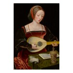 THE MASTER OF THE FEMALE HALF-LENGTHS | A YOUNG LADY PLAYING A LUTE