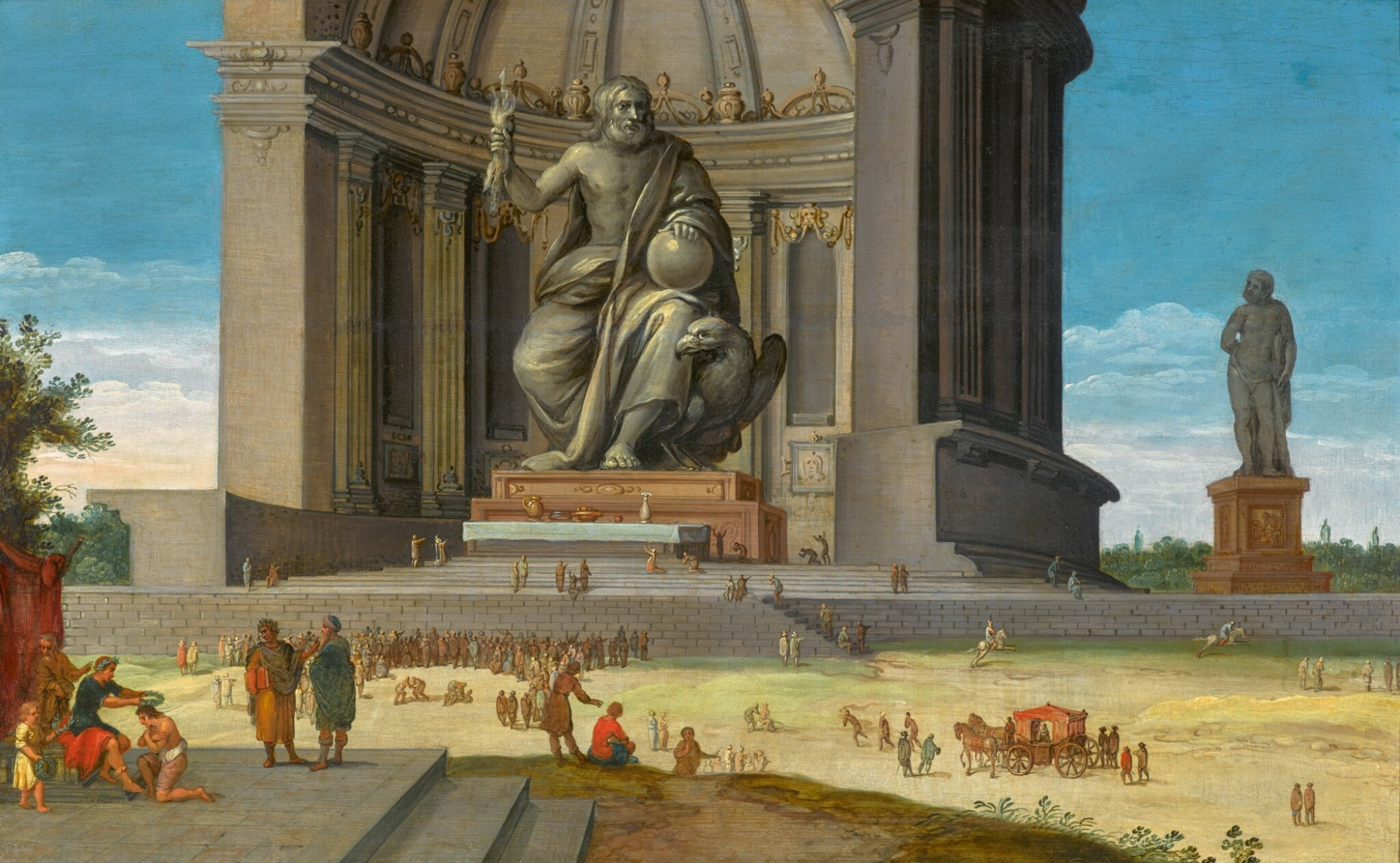 View 1 of Lot 289. JACOB VAN DER ULFT | THE PHIDIAN STATUE OF ZEUS AT OLYMPIA, WITH OLYMPIC GAMES TAKING PLACE AT ITS FEET.