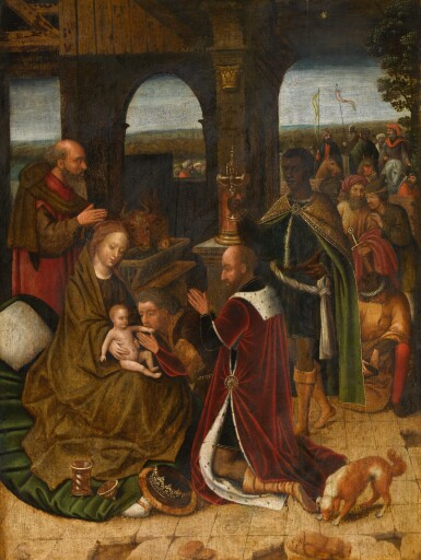 SCHOOL OF BRUGES, 16TH CENTURY   The Adoration of the Magi