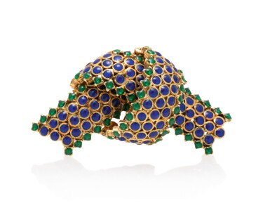 View 2. Thumbnail of Lot 21. TIFFANY & CO.   GOLD AND ENAMEL BROOCH.