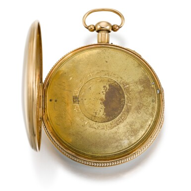 View 4. Thumbnail of Lot 279. SWISS   A GOLD QUARTER REPEATING WATCH WITH CONCEALED EROTIC AUTOMATON, CIRCA 1820.
